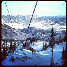 Just another beautiful day at Snowbasin, Utah!
