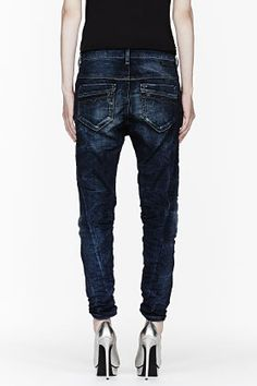 Diesel Dark Wash Fayza-ne Jogg Jeans for women | SSENSE