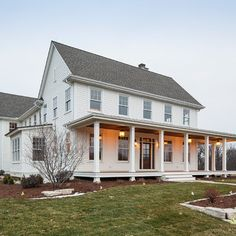 Traditional Exterior farmhouse front porch Design Ideas, Pictures, Remodel and Decor