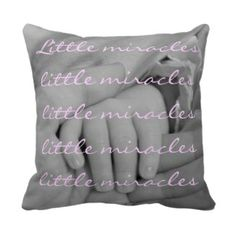 Baby Nursery | Pretty Throw Pillows - little miracle baby nursery throw pillow