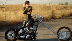 Tommy Lee & his Sugar Bear Springer Harley Evo Chopper