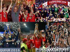 Cinco equipos europeos lograron dobletes en la temporada 2015-2016