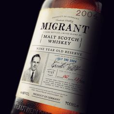 Whiskey bottle packaging design. Designed by Chad Michael, New York.