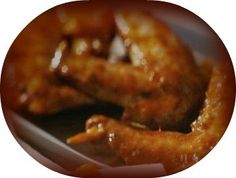 Chicken wings appetizer marinated in soy sauce
