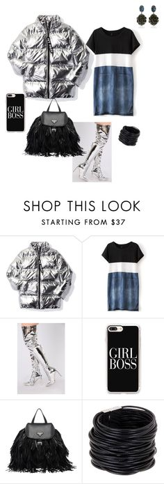 """Girl Boss"" by styledbychance ❤ liked on Polyvore featuring Ivy Park, Casetify, Prada, Saachi and Marni"