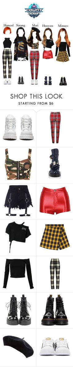 """""""《ComeBack 》 M!Countdown 'BoyzOut' performance"""" by abyssofficial ❤ liked on Polyvore featuring Dr. Martens, Vivienne Westwood Red Label, WearAll, Balenciaga, Ann Demeulemeester, MaxMara and adidas Originals"""