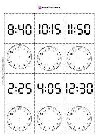 Memory pamięć zegar godziny gra do druku Printable Alphabet Worksheets, English Time, Telling Time, Home Schooling, Math Activities, Fun Learning, Second Grade, Early Childhood, Mathematics