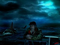 Awesome Jaws movie art finds to note; i think by Lee 'Goatboy' hartnup's board Jaws Film, Jaws Movie, Movie Tv, Shark Pictures, Pictures To Draw, Everything Film, Halloween Horror Movies, Shark Bait, Perfect Movie