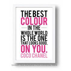A Coco Chanel Print