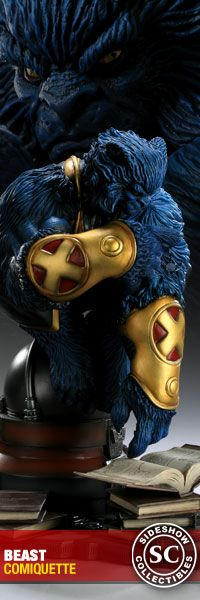 "Beast!    oining the Sideshow Collectibles Marvel line is the Beast Comiquette, featuring Henry ""Hank"" McCoy deep in thought. Each piece is individually painted and finished with its own unique quality and detail that is the trademark of a handcrafted Sideshow Collectibles product."