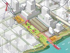Principles Of Landscape Gardening Ppt Urban Design Concept, Urban Design Diagram, Urban Design Plan, Architecture Portfolio, Landscape Architecture, Masterplan, Axonometric Drawing, Tourism Development, Design Strategy
