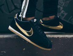 finest selection 66316 a4600 Que vaut la Nike Cortez SE Suede femme  Black Gold Gum