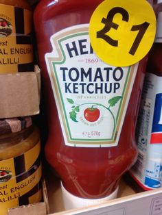 Heinz Tomato Ketchup    570g    Standard price in supermarkets £2    Best price found, Poundstretchers £1.29    Our price £1.00    BB End of October 2017  | Shop this product here: http://spreesy.com/DiscountFoodsofLincoln/241 | Shop all of our products at http://spreesy.com/DiscountFoodsofLincoln    | Pinterest selling powered by Spreesy.com