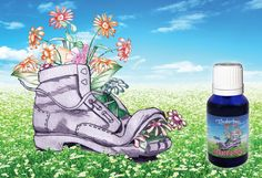Turn your shoes into a fragrant garden A pure plant, natural aroma that deodorises your shoes. Place a few drops inside your shoes to transform them into a fragrant garden. Smelly Shoes, Foot Powder, Blue Glass Bottles, Naturalizer Shoes, Lemon Essential Oils, Massage Oil, Tea Tree, Peppermint, Recycling
