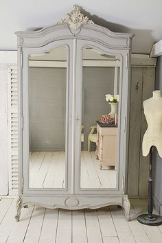 #letstrove Looking for a 'wow' piece in your home, then look no further! This beautiful vintage French Knock-Down Armoire/Linen Cupboard, will make a stunning storage solution in a living room, bedroom or hallway. We've painted in Little Greene Mid Lead, with French Grey detail https://www.thetreasuretrove.co.uk/cabinets-and-storage/large-french-louis-xv-shabby-chic-knock-down-armoire #frenchshabbychic #frenchfurniture #vintagefinds #frenchdecor