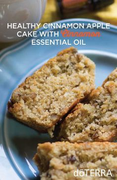Healthy Cinnamon Apple Cake with doTERRA Cinnamon essential oil~ going apple picking tomorrow this is a must try recipe
