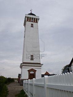 The lighthouse at Helnaes Funen Denmark built 1900