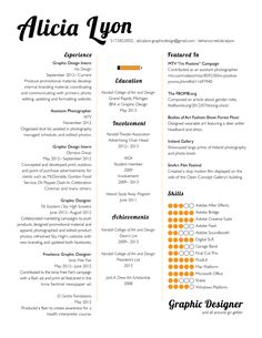 Graphic Design Resume Template Are Really Great Examples Of Resume And Curriculum  Vitae For Those Who Are Looking For Job.