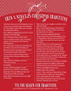 List of Christmas Traditions