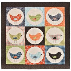 Nine Birds, Drunkards Path Variation. So easy with the Fabric Dies available.