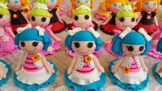 Lallaloopsy cupcake toppers Birthday Ideas, Birthday Parties, Lalaloopsy Party, Pasta Flexible, Cakepops, Cupcake Recipes, Cupcake Toppers, Princess Peach, Decorating Ideas