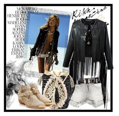 """""""Fringed jacket - spring trend"""" by cool-cute ❤ liked on Polyvore featuring Sans Souci, Maison Boinet, Chicnova Fashion, Antik Batik, Balmain, Charlotte Russe, LC Lauren Conrad, StreetStyle, TrickyTrend and Trendy"""