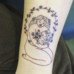 Sweet bunny love tattoo I designed for @maevehawkes!