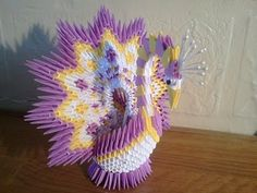Origami 3d - Comment faire 3d origami paon - YouTube