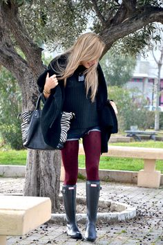Jeans shorts and Hunter boots - It-girl by Eleonora Petrella