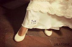 Novia: María Agustina Davenport Zapatos: Laila Frank. #LailaFrank #shoes #design  #party #Bride #Bridal #Wedding #novia #boda #casamiento #zapato #tacos #elegant #style #Love