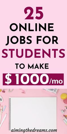25 online jobs for college students to make money online while studying. It is possible to earn while you learn. Check these online jobs and make money online. Online Jobs For Students, Online Jobs For Teens, Easy Online Jobs, Student Jobs, Online Jobs From Home, Online College, Work From Home Jobs, College Students, Student Online