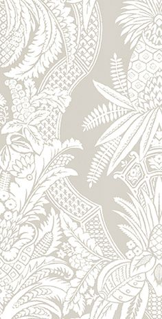 Colony EAST INDIA wallpaper & linen print in Bianco Beige available through Scalamandre
