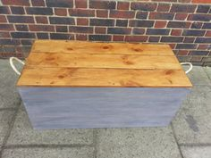 Handmade Rustic Gentlemen's Trunk Storage Chest / Trunk / Hope Box with rope handles. Tool Storage, rustic chest, rustic trunk
