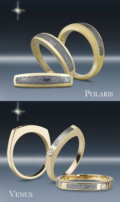For a truly unique wedding band, try our Polaris or Venus Meteorite Wedding Bands. A real symbol of eternity.