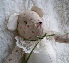 Laura the Little Teddy Bear by ellemardesigns on Etsy, $10.00