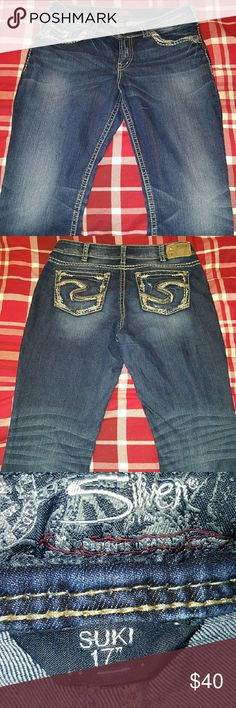 Silver Jeans co. Suki Straight medium wash jeans Lightly worn Very ...