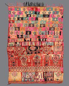 vintage Moroccan rug, Boujad #BJ27