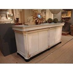 French Antique Repro Check Out Counter Reception By