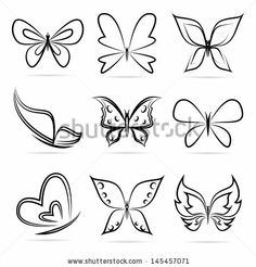 Find Simple butterfly contour Stock Images in HD and millions of other royalty-free stock photos, illustrations, and vectors in the Shutterstock collection. Easy Butterfly Drawing, Simple Butterfly Tattoo, Tribal Butterfly Tattoo, Butterfly Logo, Cute Butterfly, Butterfly Nail, Butterfly Painting, Butterfly Wallpaper, Purple Butterfly