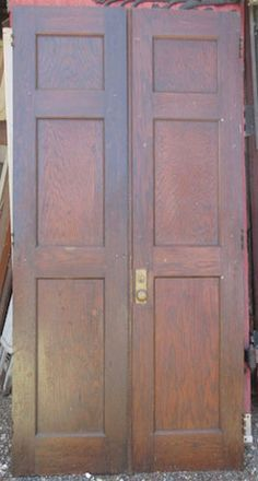 Philly style double door complete with ornate mail slot period great condition quarter sawn oak interior door pairs salvaged from a public school great for planetlyrics Image collections