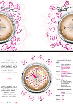 "INVITATION LAYOUT  A5 layout invitation from folding Academia Medica Pragensis for action Jesenné Diabetes orientation.  ""aim was to reach the front Tulce real chaos, which will also have some consistency. The very name of the event indicates the intention of chaos, without control, without direction - orientation""  #print #graphicdesign #icons"