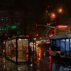 ArtStation - The Bus Stop, Tony Skeor