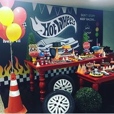 New monster truck birthday party ideas decoration hot wheels ideas Hot Wheels Birthday, Hot Wheels Party, Race Car Birthday, Race Car Party, Monster Truck Birthday, Monster Trucks, 13 Birthday, Birthday Ideas, Car Themed Parties