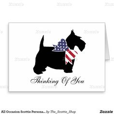 All Occasion Scottie Personalize Stationery Note Card