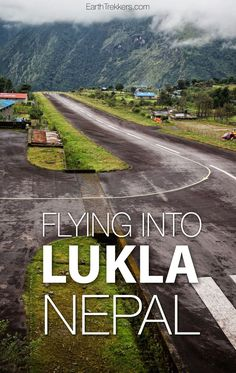 Flying to Lukla Airport Nepal