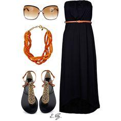 Black Maxi Dress, created by uniqueimage