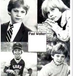 I notice that Paul is so young as a kid and he is adorable! Paul Walker Family, Paul Walker Movies, Cody Walker, Rip Paul Walker, Paul Walker Pictures, Young Celebrities, Celebs, Dream Boy, Angel Eyes