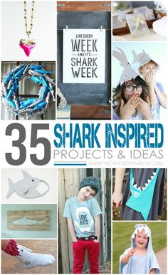 35 Shark Projects & Ideas - thecraftedsparrow.com