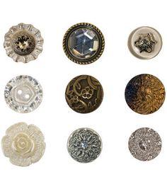 Tim Holtz Idea-Ology Advantus Corp Accoutrements Fanciful Buttons
