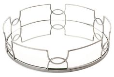 One Kings Lane - Gifts for the Hostess - Mirror Tray, Silver